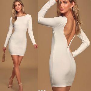 Lulus Addyson Long Sleeve Backless Bodycon dress